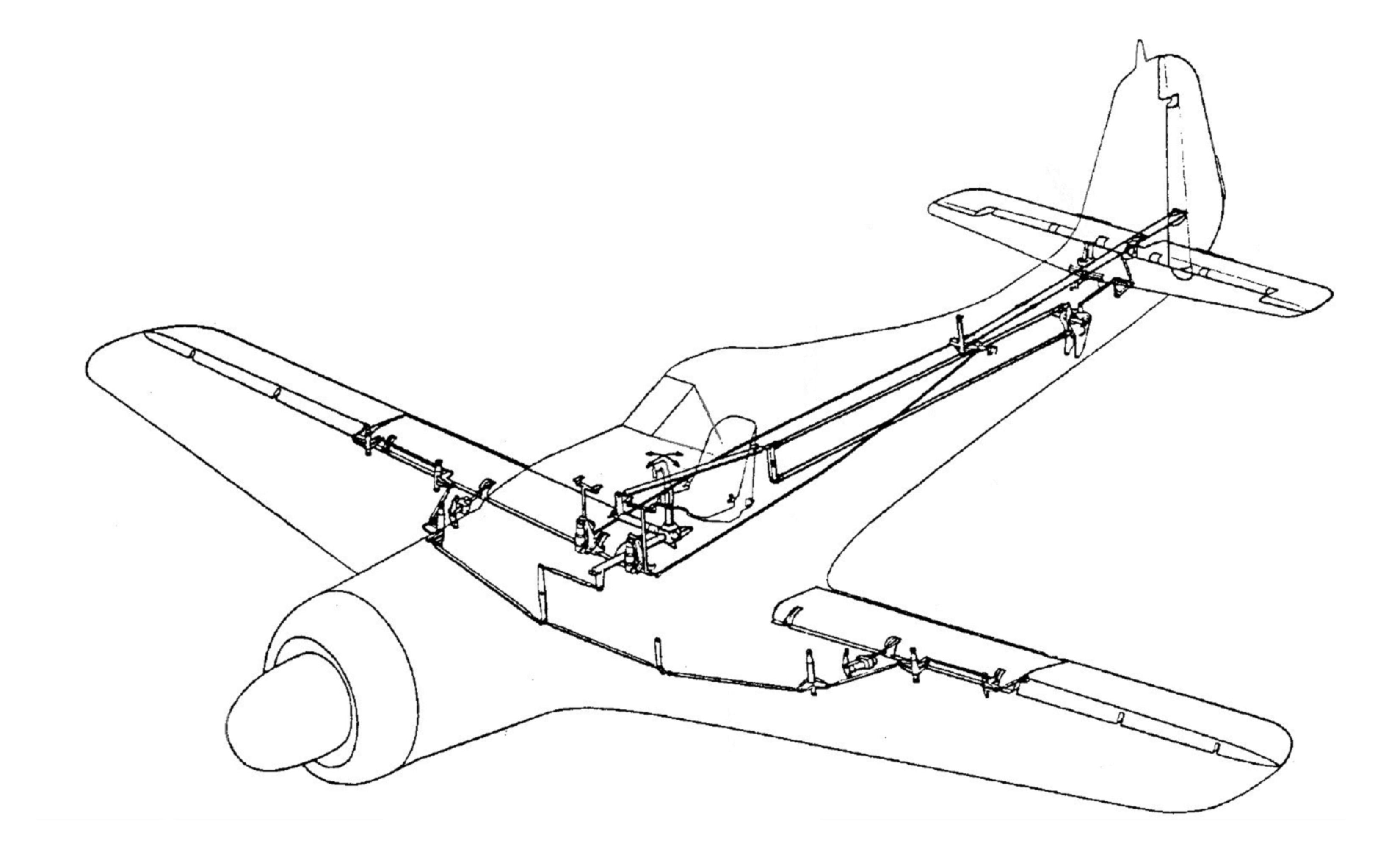 Fw 190 D-9 Steuerung